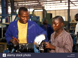 peugeot factory peugeot automobile factory kaduna nigeria stock photo royalty
