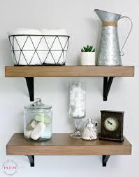 Bathroom Shelf Decorating Ideas Farmhouse Style Fixer Upper Bathroom On A Budget Must Have Mom