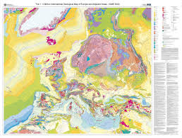 Map Of Northern Europe The 1 5 Million International Geological Map Of Europe And