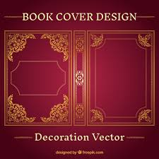 ornamental book cover design vector free