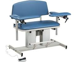 clinton industries medical tables clinton industries 6361 power series bariatric blood drawing chair