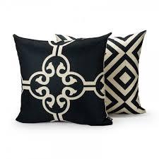coussin de canapé design coussin noir et blanc design géométrique canapé coussins de style