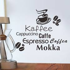 Coffee Wall Decor For Kitchen Online Get Cheap Cappuccino Kitchen Decor Aliexpress Com