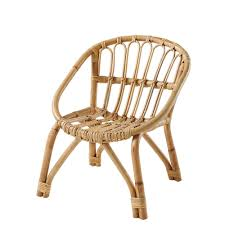 chaise vintage enfant chaise enfant en rotin plume maisons du monde