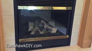 how to clean fireplace glass get rid of white film on gas