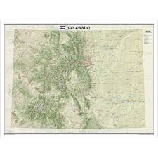 Map Of Colorado Rivers by Colorado Wall Map Laminated National Geographic Store