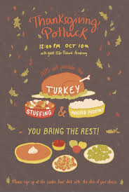 ashleigh green thanksgiving potluck poster
