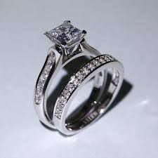 vancaro wedding rings 1 0 ct brilliant princess cut 925 sterling silver engagement
