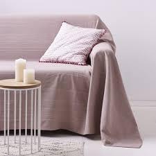 jeté de canapé couvre lit jeté de canapé 100 coton tissé dessin lignes relief