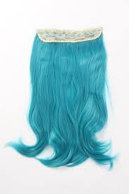 teal hair extensions db one clip in synthetic hair extensions shade teal
