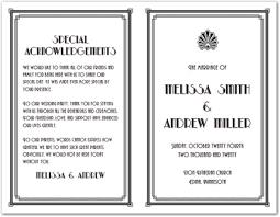 bi fold wedding program template black vintage deco border bi fold template downloadble