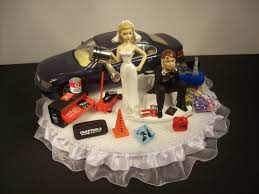 car wedding cake toppers auto mechanic got the piston bmw 745i blue car wedding