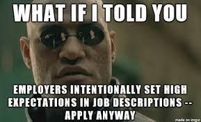 Level Meme - i often hear people say they want years of experience for an entry