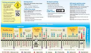 Daytona Florida Map by Traffic Free Beaches In Daytona Beach And Volusia County No
