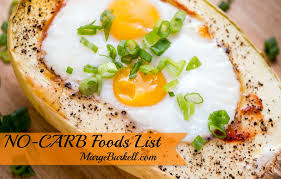 no carb foods list skinny on low carb