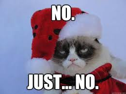 Grumpy Cat Memes Christmas - no just no christmas grumpy cat quickmeme