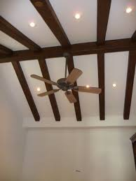 ceiling fans for sloped ceilings vaulted beam ceiling with recessed lights google search tiny