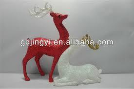 china glitter acrylic plastic reindeer figurines buy