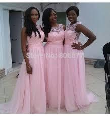 Summer Garden Wedding Guest Dresses - south africa pink long bridesmaid dress 2015 summer fall beach