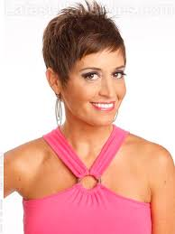 razor cut hairstyle with spiky on top womens straight hairstyles ideas spiky fun pixie cut for straight
