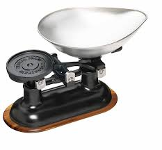 kitchen craft natural elements traditional balance scales set