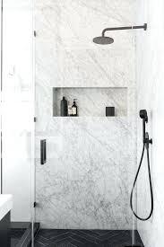 White Carrera Marble Bathroom - shower shower with carrera marble white marble bathroom ideas
