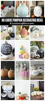 No Carve Pumpkin Decorating Ideas No Carve Pumpkin Decorating Ideas Create Craft Love