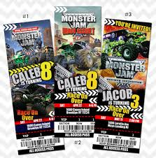 monster truck show ticket prices monster jam invitation by asherprints on etsy saw s 4th monster