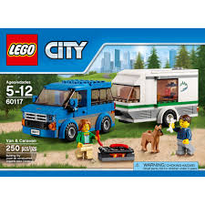 lego city great vehicles van u0026 caravan 60117 walmart com