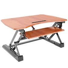 motorized sit stand desk high quality sit and stand desk for home or office aeon 80008 cherry