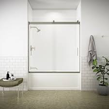 Shower Bath Doors Kohler K 706000 L Mx Levity Bypass Bath Door With Handle And 1 4