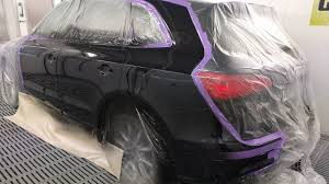 audi sq5 spray painting panther black h8 youtube