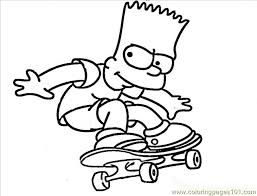 the stylish bart simpson coloring pages pertaining to your own