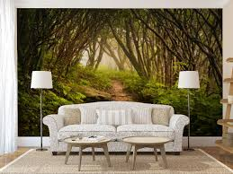 Wall Mural Sunrise In A Forest Wall Paper Self Adhesive Mystical Forest Wall Mural Self Adhesive Photo Mural