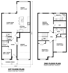 Custom House Floor Plans by Second Floor Modern 2 Story House With Rectangular House Floor Plan