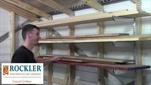 Simple Wood Storage Shelf Plans by Adjustable Lumber Storage Rack Review Laney Shaughnessy Youtube