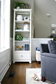 Bookcase Decorating Ideas Living Room Living Room Refresh From Thrifty Decor
