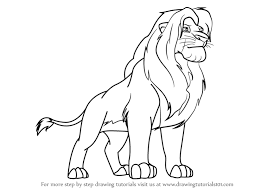 learn draw simba lion king lion king step