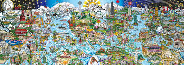 we are the world panoramic puzzle 1000 jigsaw puzzle puzzle