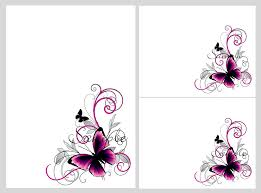 sle wedding program template pretty pink black butterflies blank invitation templates