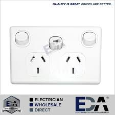 double power point gpo with oven 35 amp extra switch wall outlet