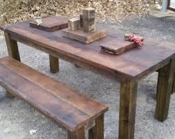 Rustic Pub Table Set Barn Wood Table Etsy