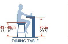normal dining table height average bar table height images table decoration ideas