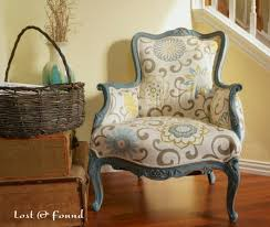 Recovering An Armchair How To Reupholster A French Chair Makeover Reveal Lost U0026 Found