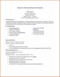 internship resume sample for college students free resume