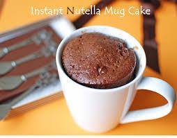 instant nutella mug cake 2 minutes nutella microwave mug cake