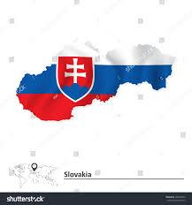 Slovak Flag Map Slovakia Flag Vector Illustration Stock Vector 286942049