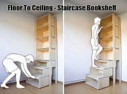 innovative bookshelf idea movable staircase bookshelf wooden