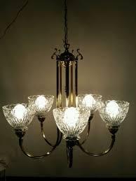 Globes For Chandelier Vintage 5 Light Heavy Brass Glass Globes Chandelier Hanging For