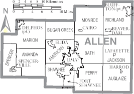 map of allen file map of allen county ohio with municipal and township labels